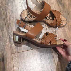 Sam Edelman brown and gold sandals